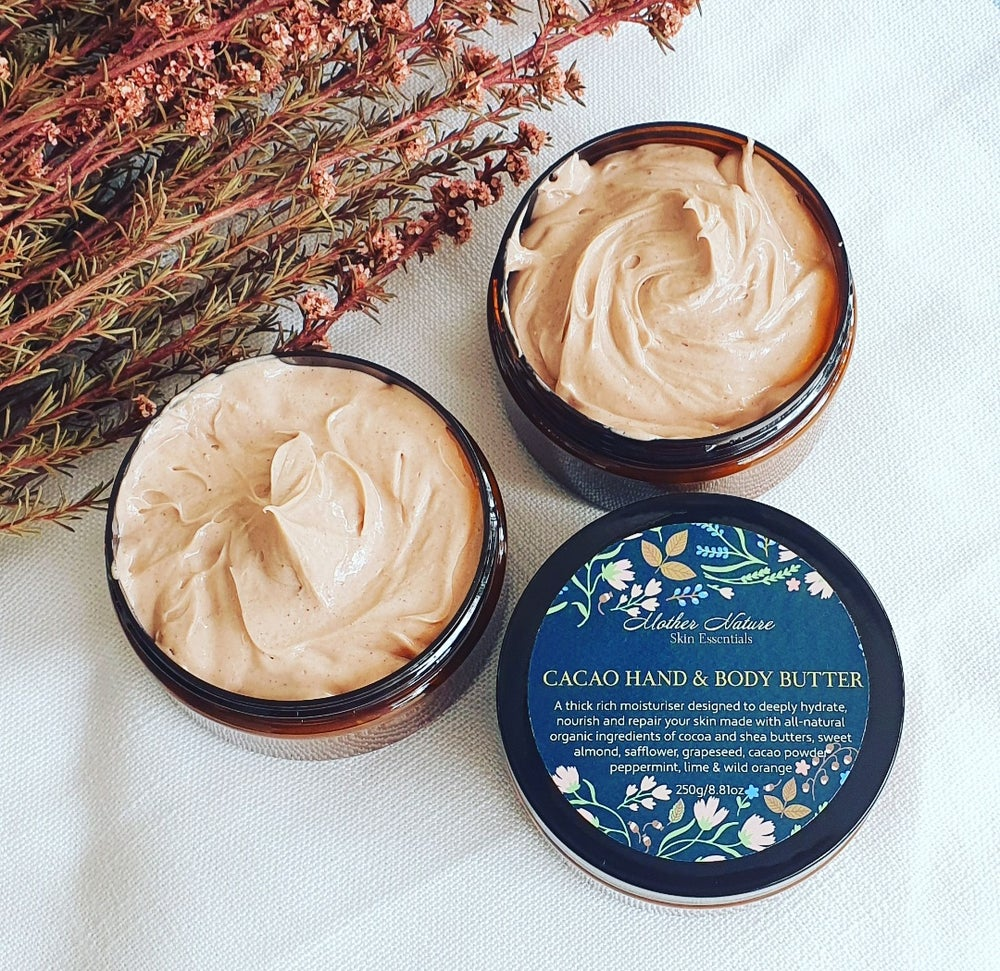 Image of Hand-whipped Cacao Body Butter Infused with Peppermint, Lime & Wild Orange