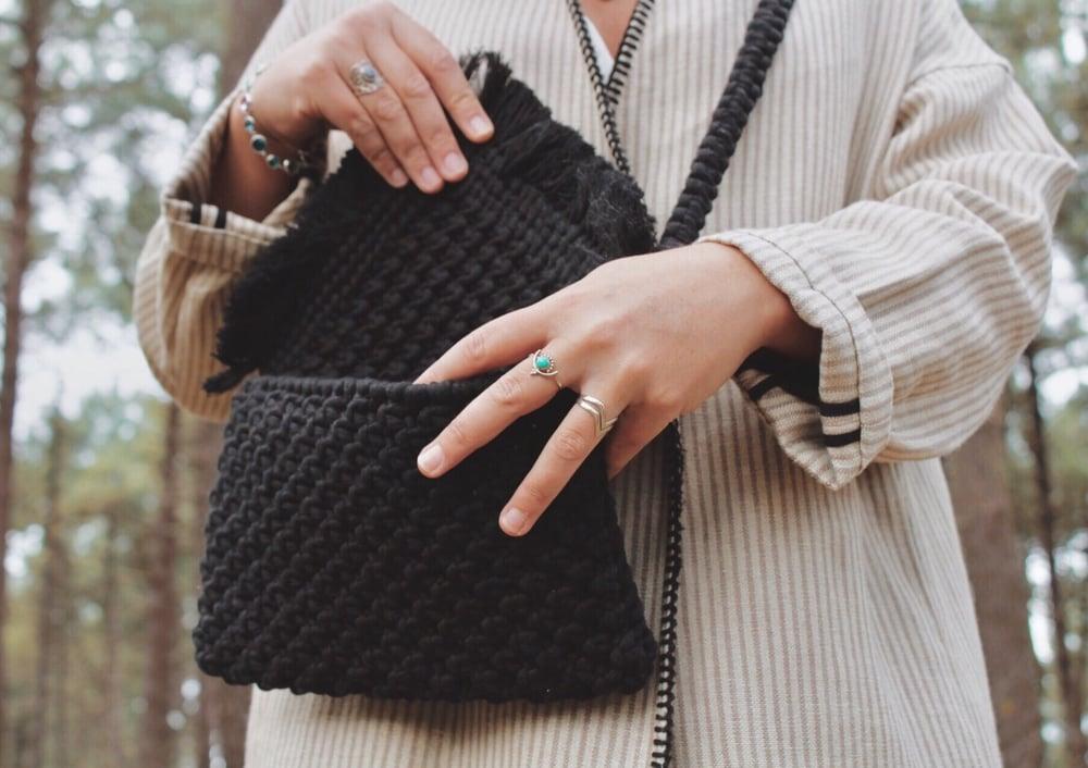 Image of Black clutch bag