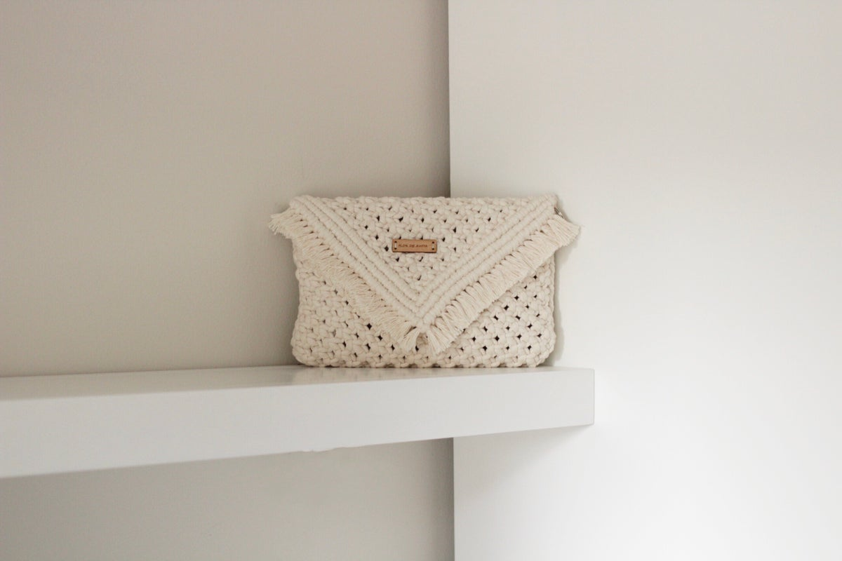 Image of Off white Clutch bag