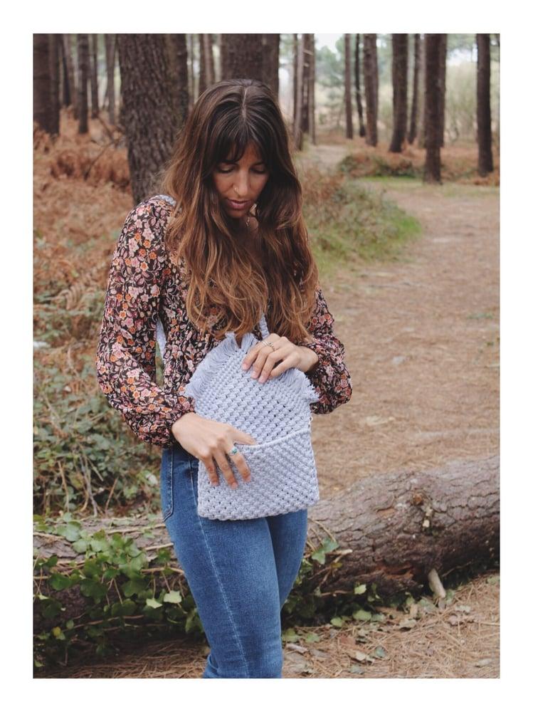 Image of Grey clutch bag