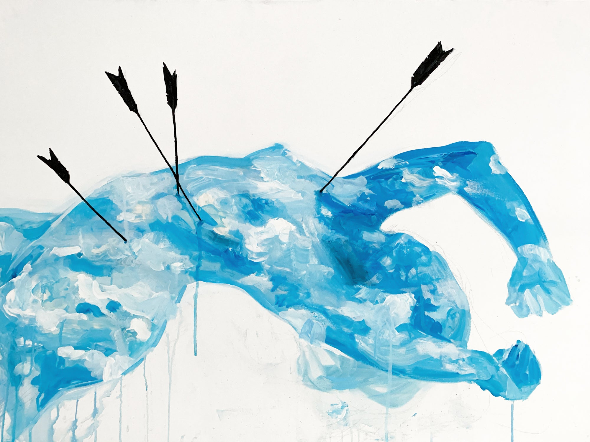 Agnes-Cecile arrows into the sky