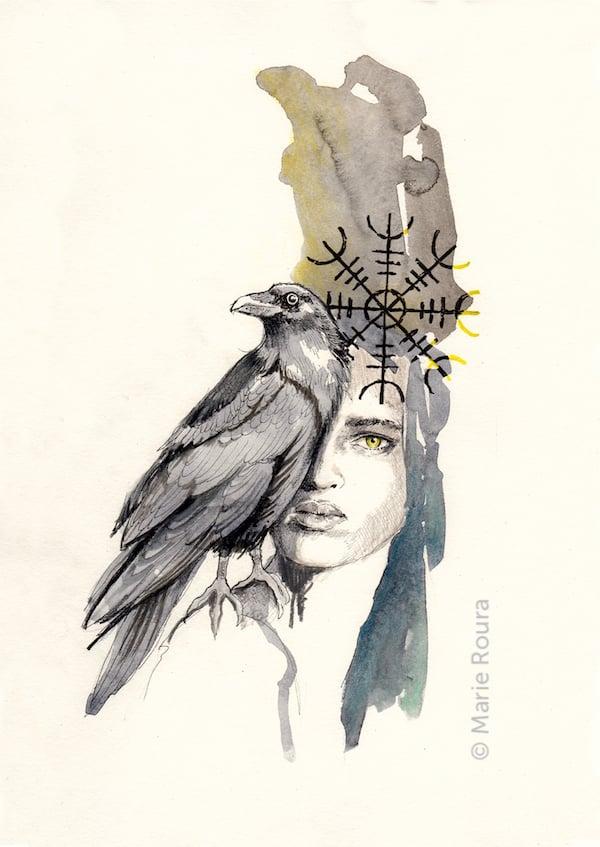 Le corbeau Animal totem