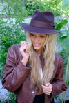 Chocolate Brown Fedora Hat