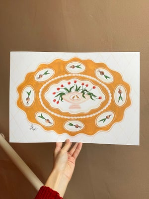 Image of A3 Canary & Tulip Platter Print
