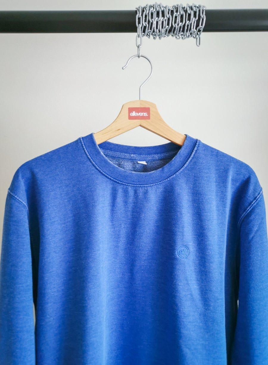 Image of E11evens - Blue washed/warn style sweater