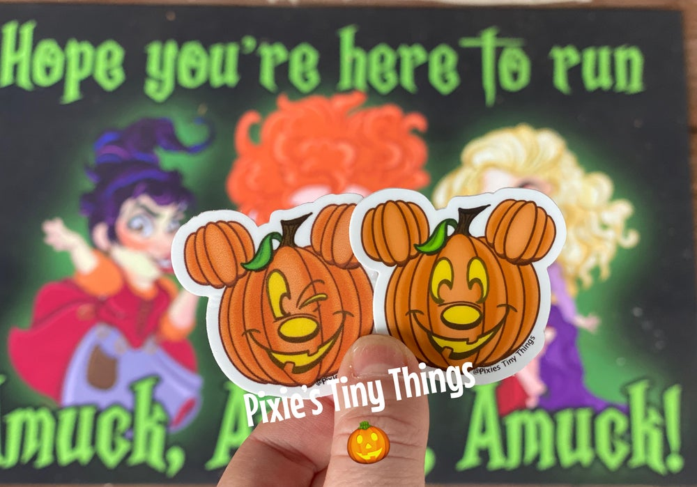 Image of Pumpkin Mickey stickers