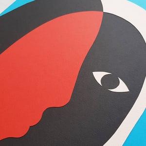 Image of Original collage 30 x 40 cm 'Pas de Face'