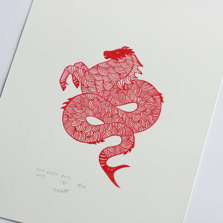 Image of Hippocampus - Original Gocco Print