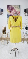 Yellow Shirt Dress