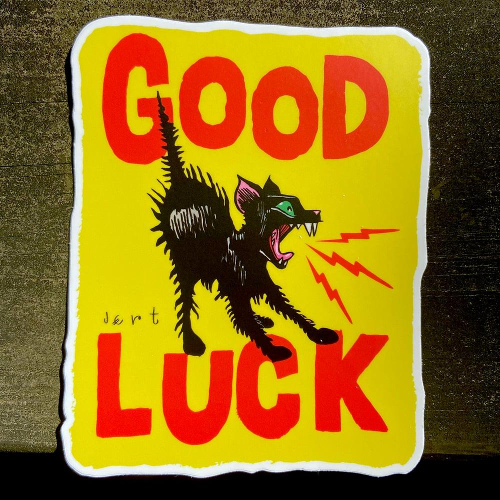 Image of XL-GOOD LUCK-SLAP-Yellow- Vinyl sticker