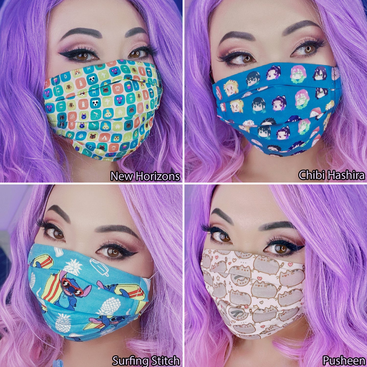 Image of Premium Face Mask, Washable, Double-Layered, Filter Pocket, Cotton or Poly Blend