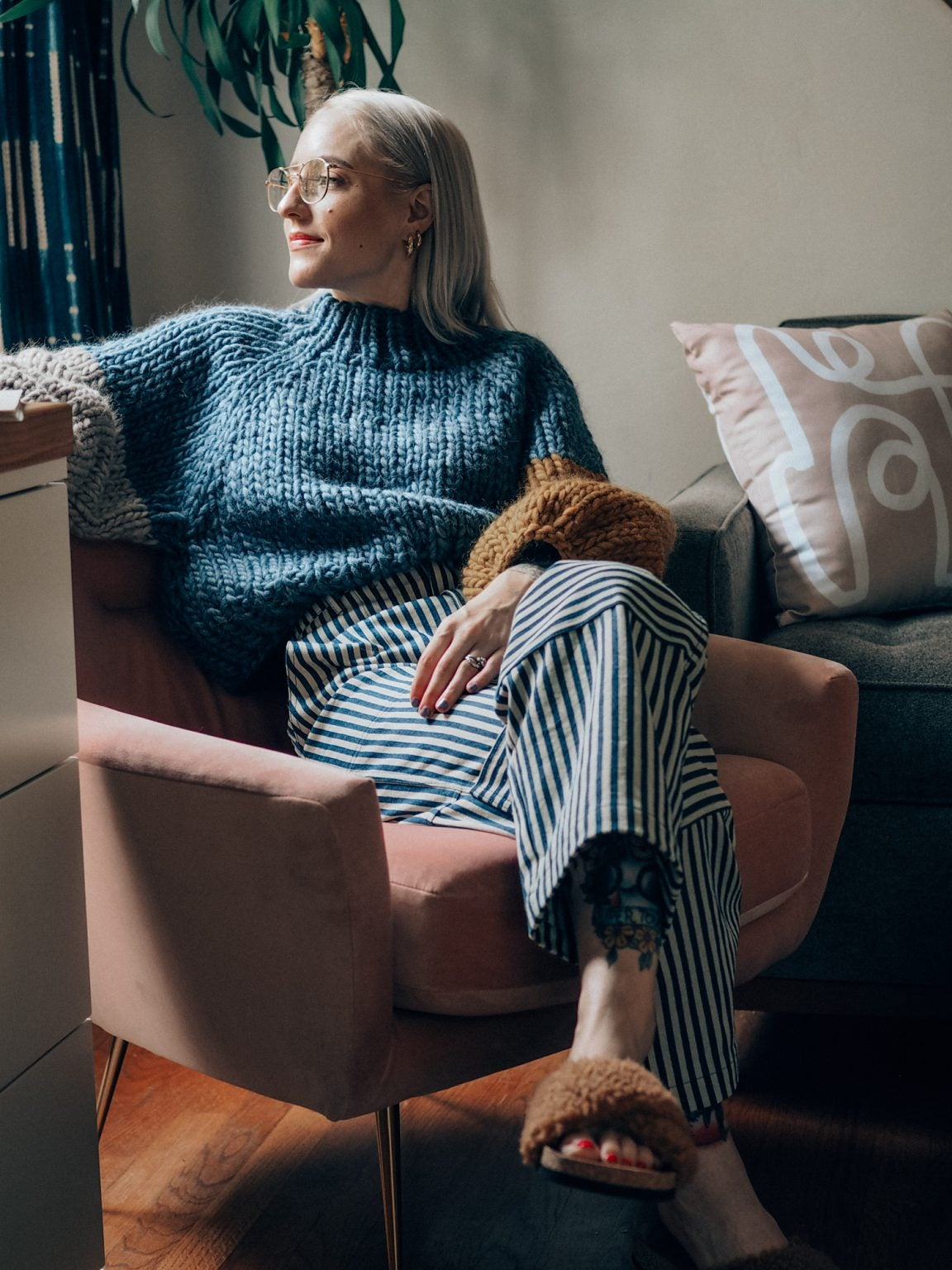 Image of Frid Sweater (colour blocked shown- more colours)