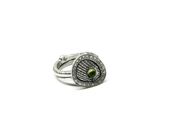 Image of Green Vesuvianite Ring