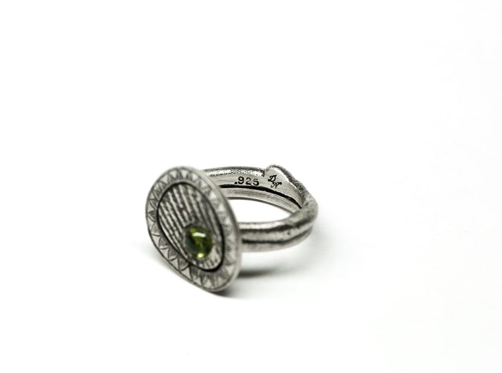 Image of Green Vesuvianite Ring
