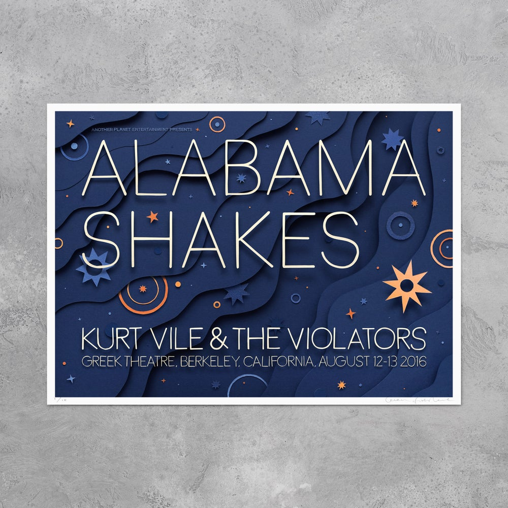 Image of Alabama Shakes - Limited Edition Glow in the Dark Poster