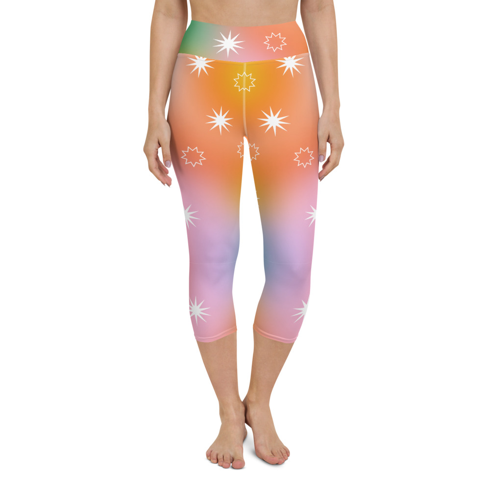 Image of Fairy Dust Print Yoga Leggings