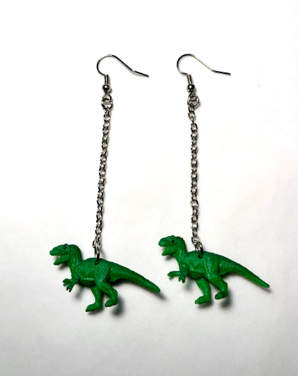 Image of Dino Chain Earrings