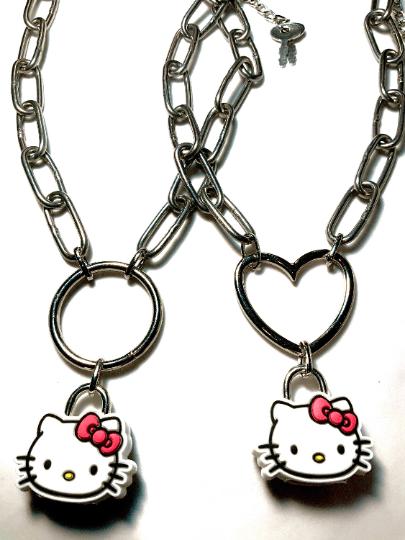 Image of Hello Kitty Padlock Necklace