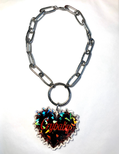 Image of Crybaby Barbed Wire O-Ring Necklace