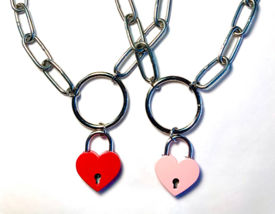 Image of LOVE KILLS Padlock Necklace