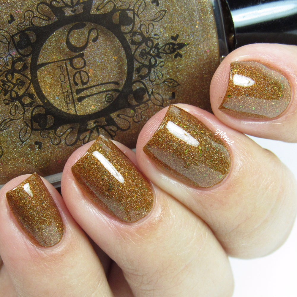 Image of ~Cackling Convention~ bronze holo w/gold, pink and multichrome flakes!