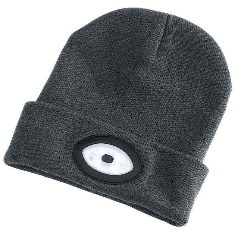 Image of Beanie With Rechargeable Built-In LED Headtorch