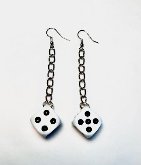 Image of Dice Chain Earrings