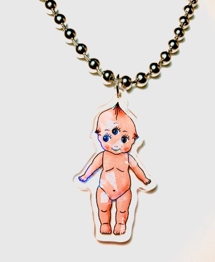 Image of Kewpie Ball Chain Necklace