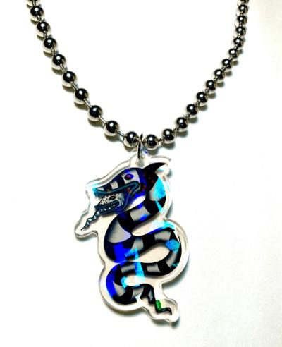 Image of Beetlejuice Sandworm Ball-Chain Necklace