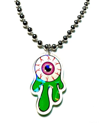 Image of Eyeball Slime Ball-Chain Necklace