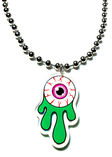 Image of Eyeball Slime Ball-Chain Necklace