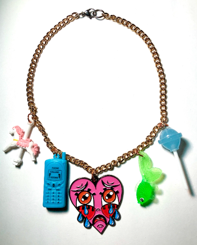 Image of Crybaby Charm Necklace