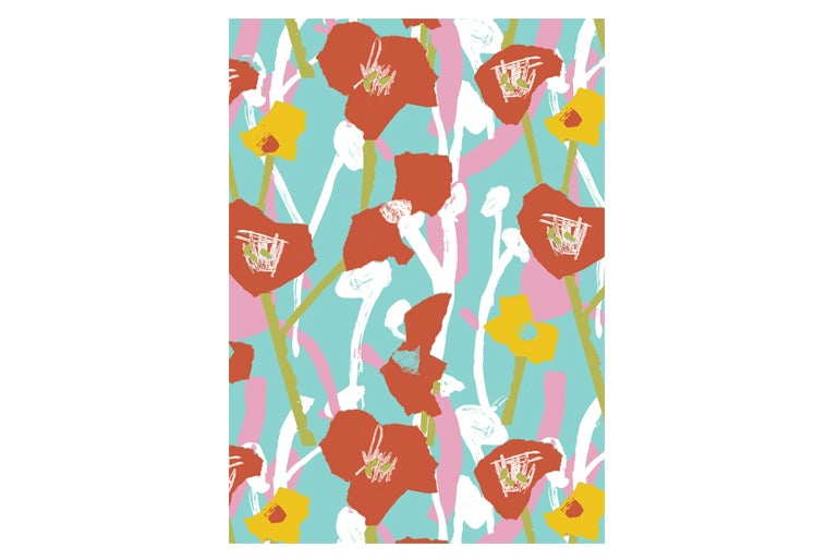 Image of Hockney Poppies - Gift Wrap
