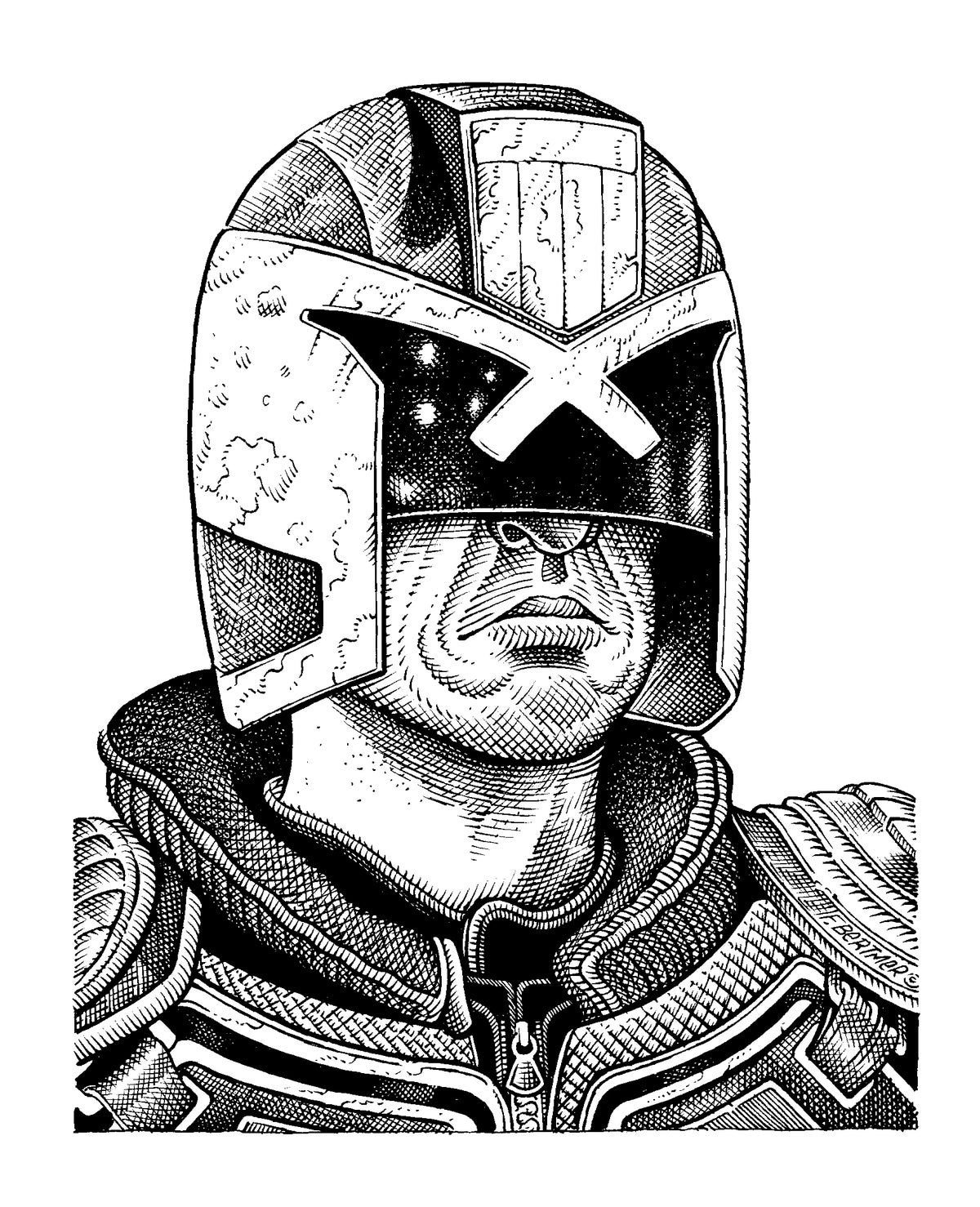 Image of Dredd - Original Artwork