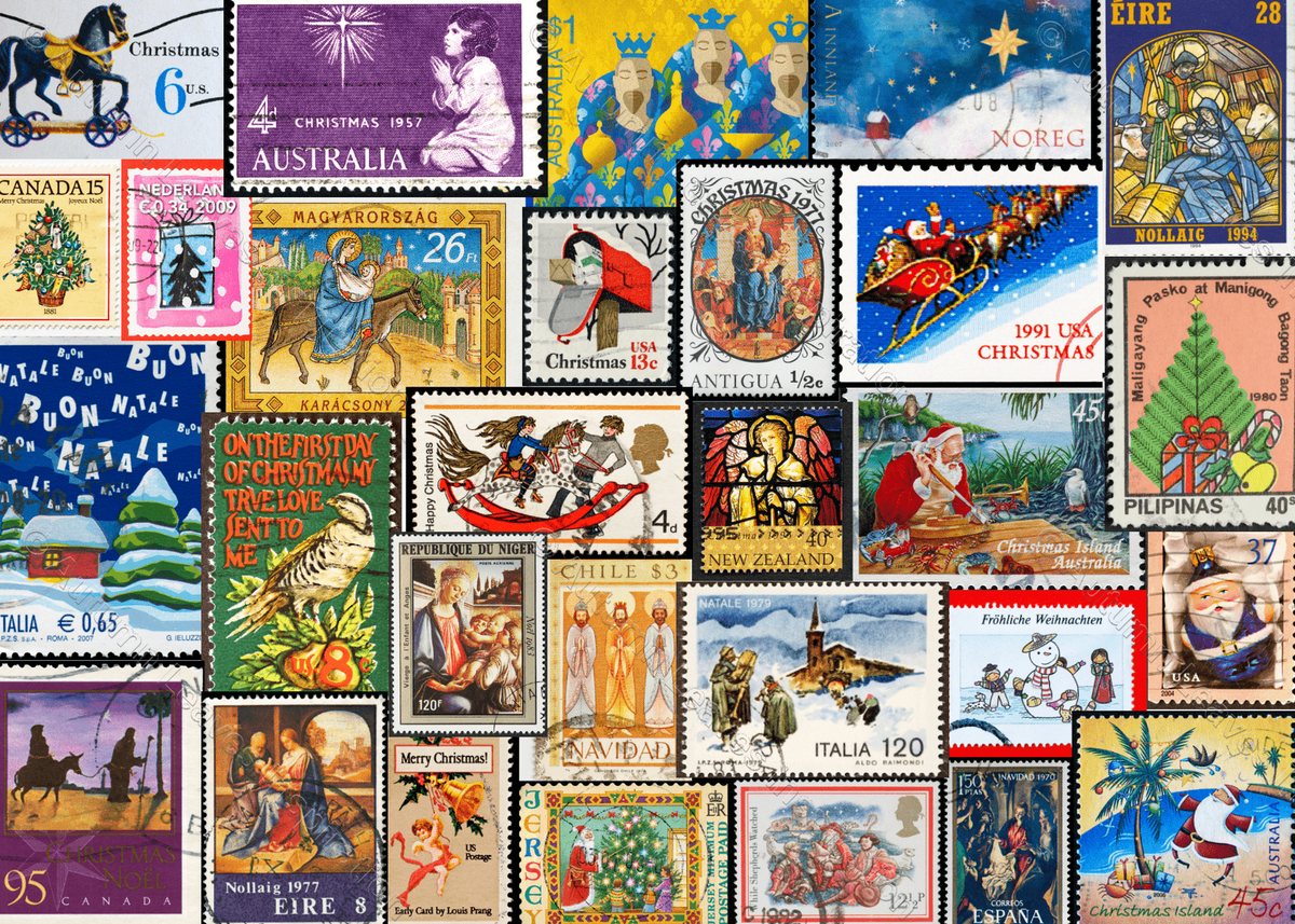 Image of C19 Merry Christmas Stamps - NEW!