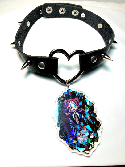 Image of Troll Fairy Cameo Heart Ring Choker