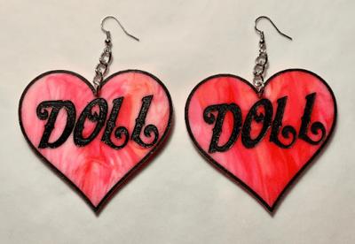 Image of Doll Heart Earrings