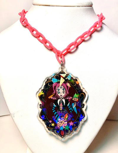 Image of Troll Fairy Cameo Necklace