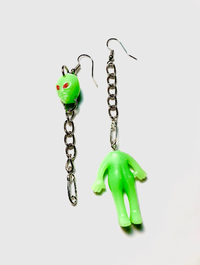 Image of Beheaded Alien Earrings