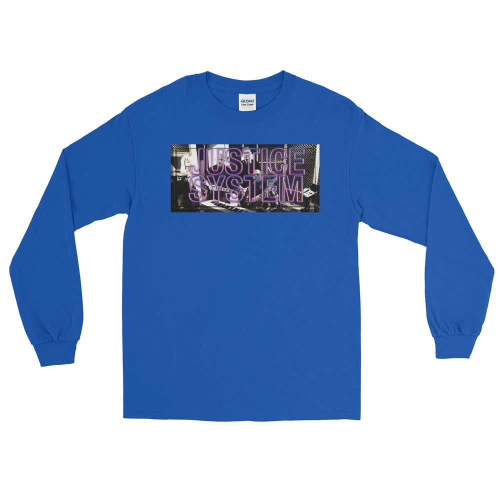 Image of Justice System - The Band Men's Long Sleeve Shirt