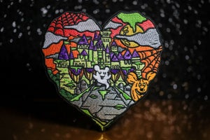 Image of Halloween Castle Love JUMBO Patch