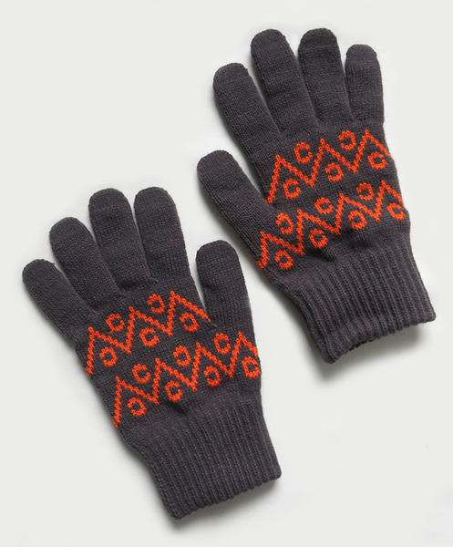 Image of WEIR GLOVES [GREY/ORANGE]