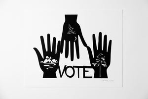 "Image of Vote Mother Nature {Original Papercut - 11x14""}"