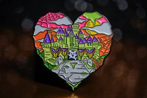 Image of Halloween Castle Love Enamel Pins