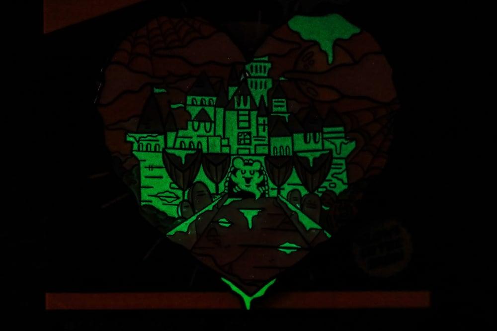 Halloween Castle Love Enamel Pins