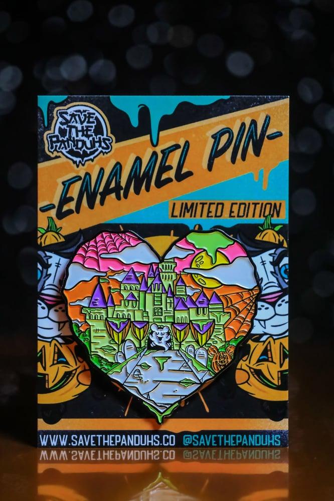 Image of Halloween Castle Love Enamel Pins