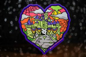 "Image of Halloween Castle Love 3.5"" Sticker"