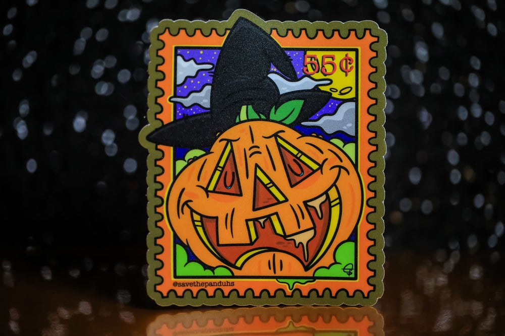 "Image of Halloween Stamp 4"" Sticker"