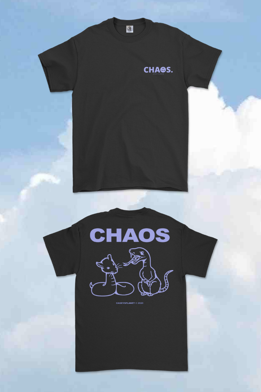 Image of CHA☺S CP07 TEE (BLACK) - COMING SOON