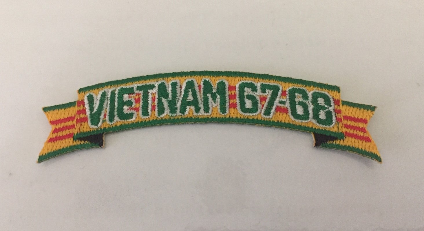 Image of Vietnam Service Ribbon colors with 1967-1968